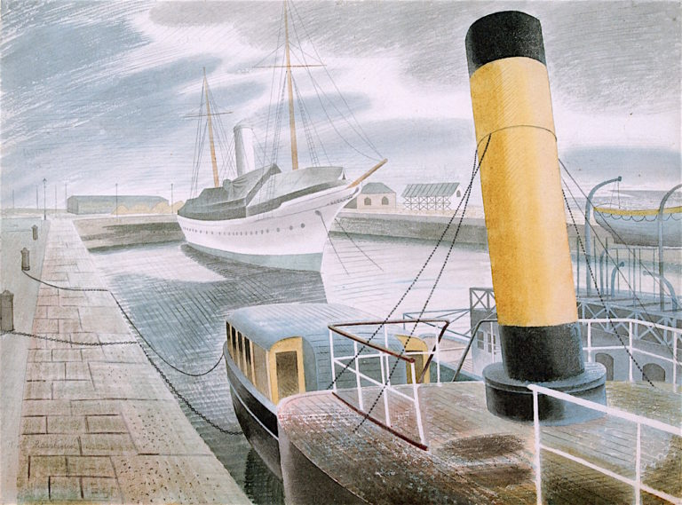 Yellow Funnel | Eric Ravilious | oil painting