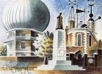 Greenwich Observatory | Eric Ravilious | oil painting