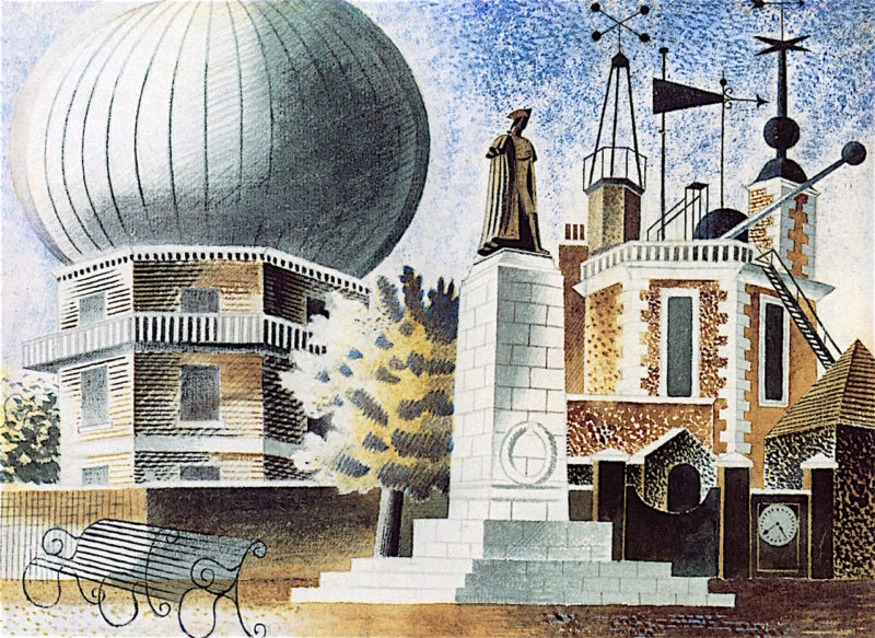 Greenwich Observatory   Eric Ravilious   oil painting