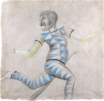 Harlequin | Eric Ravilious | oil painting
