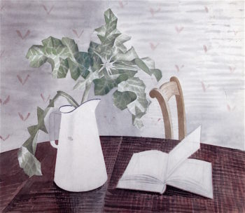 Still Life with Acanthus Leaves   Eric Ravilious   oil painting