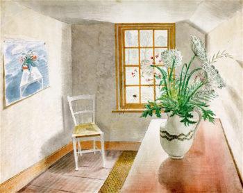 Ironbridge Interior   Eric Ravilious   oil painting