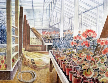 Geraniums and Carnations | Eric Ravilious | oil painting