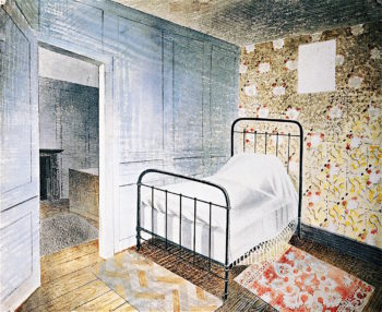 The Bedstead   Eric Ravilious   oil painting