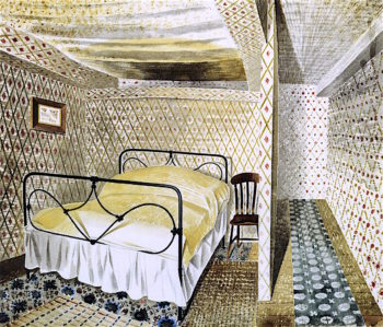 A Farmhouse Bedroom | Eric Ravilious | oil painting