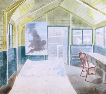 The Operations Room | Eric Ravilious | oil painting