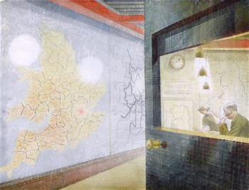 Wall Maps | Eric Ravilious | oil painting
