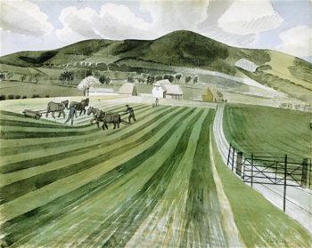Mount Caburn   Eric Ravilious   oil painting