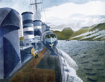 Leaving Scapa Flow | Eric Ravilious | oil painting