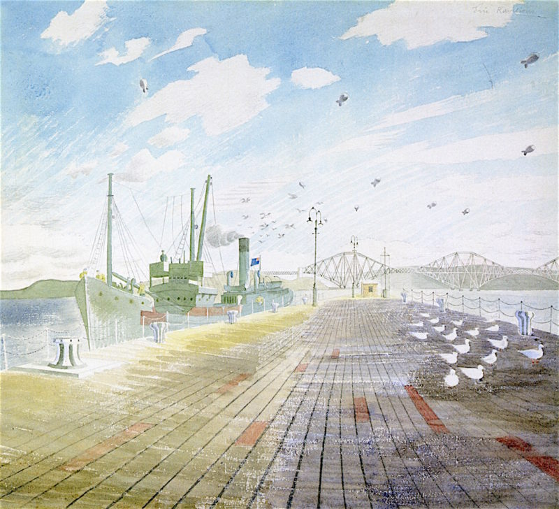 Channel Fisher   Eric Ravilious   oil painting