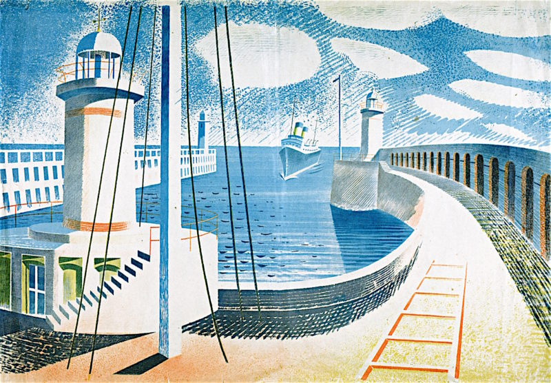 Newhaven Harbour | Eric Ravilious | oil painting