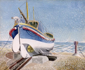 Lifeboat   Eric Ravilious   oil painting