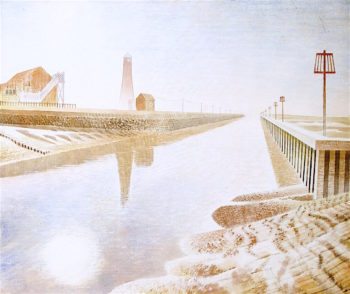 Rye Harbour   Eric Ravilious   oil painting