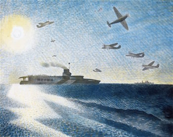 HMS Glorious in the Arctic | Eric Ravilious | oil painting