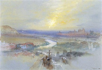 Distant View of Regensburg from the Dreifaltigkeitsberg | Joseph Mallord William Turner | oil painting