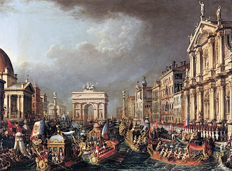 The Arrival of Napoleon in Venice | Giuseppe Borsato | oil painting