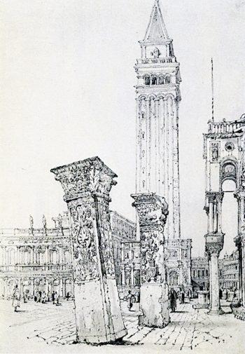 The Pilastri Acritani in the Piazetta