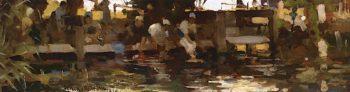 Les Laveuses | Arthur Melville | oil painting
