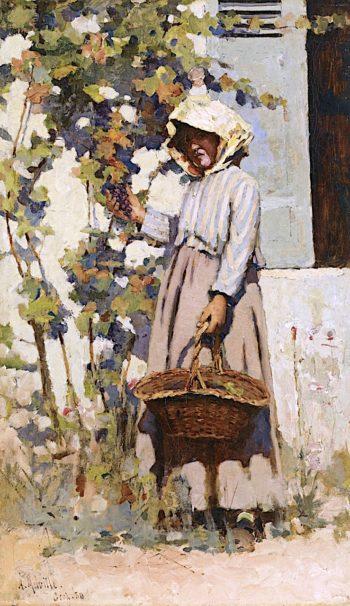 Paysanne à Grez | Arthur Melville | oil painting