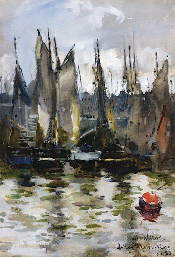 Honfleur Harbor | Arthur Melville | oil painting