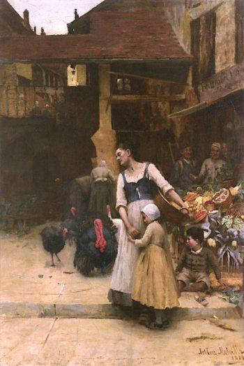 Old Enemies | Arthur Melville | oil painting