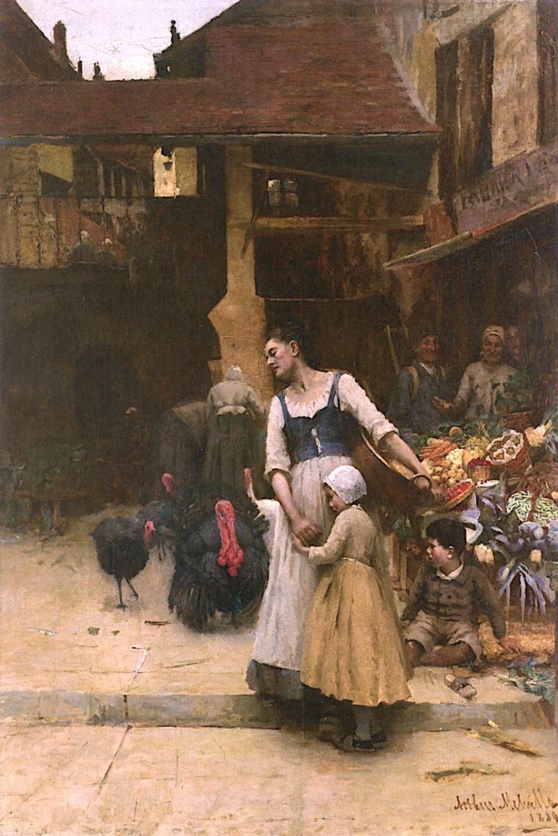 Old Enemies   Arthur Melville   oil painting