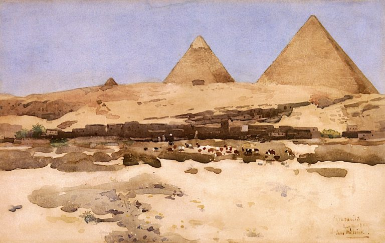 The Pyramids | Arthur Melville | oil painting