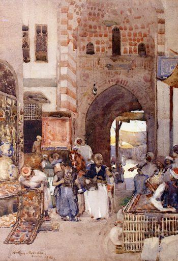 Cairo Bazaar | Arthur Melville | oil painting