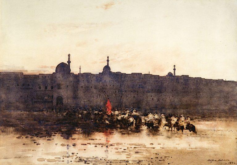 Arabs Returning from a Raid | Arthur Melville | oil painting