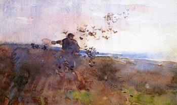 The Sower (Souvenir de Millet)   Arthur Melville   oil painting