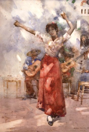 A Gitana Dancing Girl | Arthur Melville | oil painting