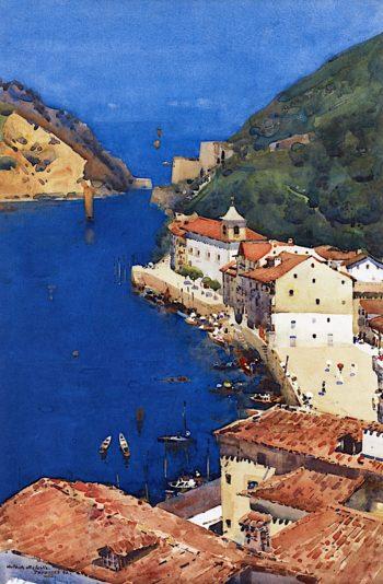 The Sapphire Sea   Arthur Melville   oil painting