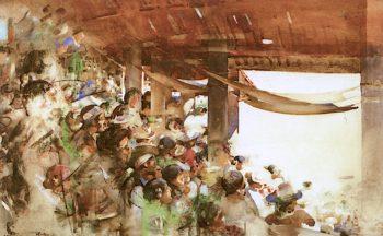 A Spanish Bullfight | Arthur Melville | oil painting