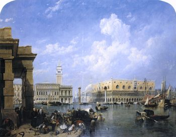 Venice from the Dogana   Clarkson Frederick Stanfield   oil painting