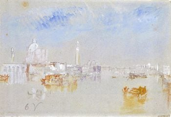 The Punta della Dogana and Bacino from the Giudecca Canal | Joseph Mallord William Turner | oil painting