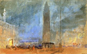 The Piazzetta with the Campanile; Night | Joseph Mallord William Turner | oil painting