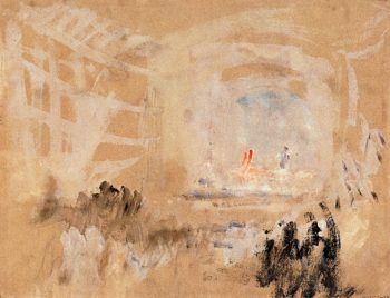 Venice -  The Interior of a Theatre | Joseph Mallord William Turner | oil painting