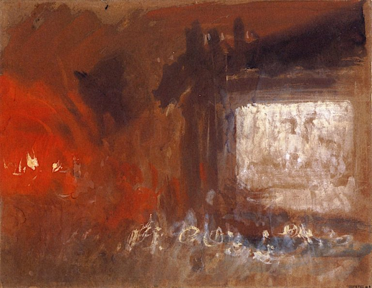 A Study of Firelight | Joseph Mallord William Turner | oil painting