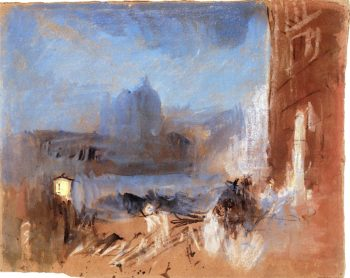 The Salute from the Traghetto del Ridotto | Joseph Mallord William Turner | oil painting