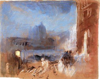 The Salute from the Traghetto del Ridotto | Joseph Mallord William Turner | oil painting