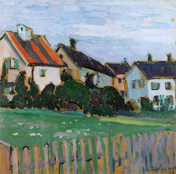 Houses with Front Gardens   Alexei von Jawlensky   oil painting