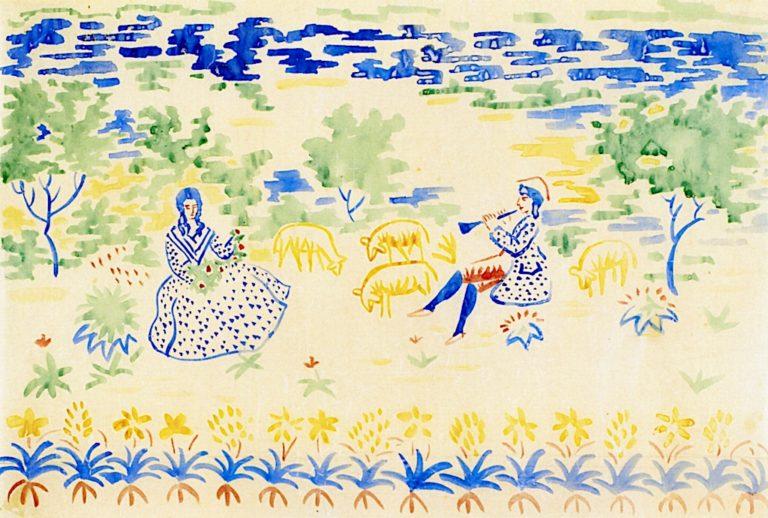 Pastoral Scene   August Macke   oil painting