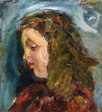 Head of a Girl | Chaim Soutine | oil painting