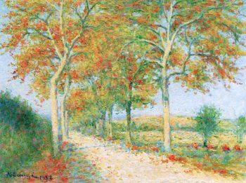 The Chailhau Road | Achille Lauge | oil painting
