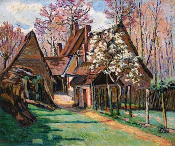 Cabins at Jouy | Armand Guillaumin | oil painting