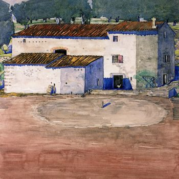 A Southern Farm | Charles Rennie MacKintosh | oil painting