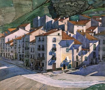A Southern Town | Charles Rennie MacKintosh | oil painting