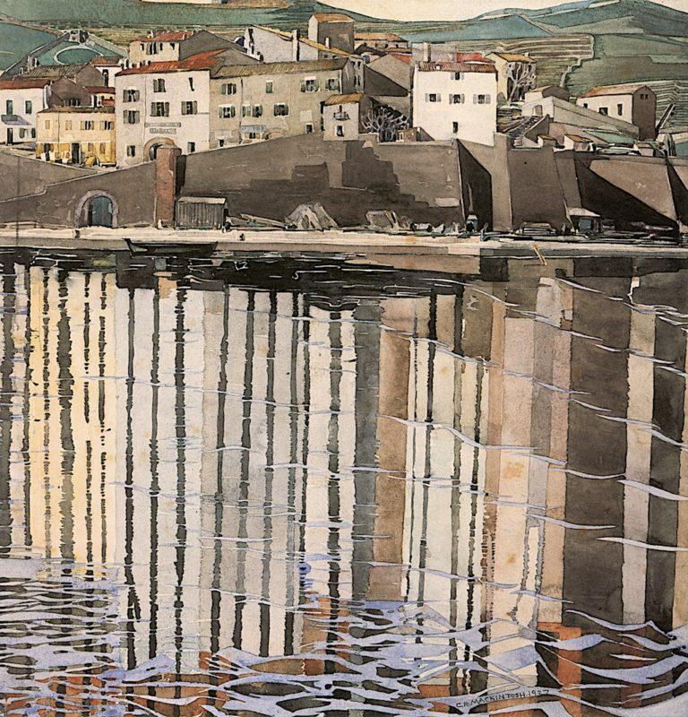 La Rue du Soleil   Charles Rennie MacKintosh   oil painting
