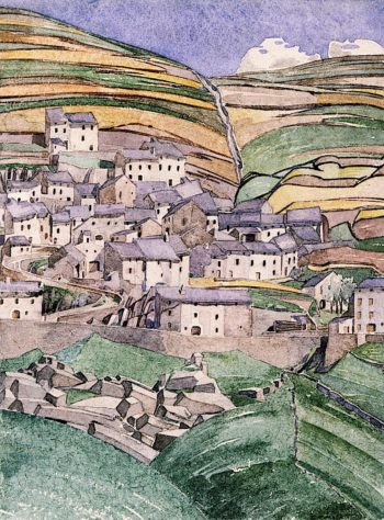 Slate Roofs | Charles Rennie MacKintosh | oil painting