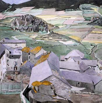 The Village of La LLagonne | Charles Rennie MacKintosh | oil painting